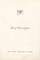 Thumbnail image of SS Manhattan 1933 Souvenir Passenger List (Hamburg to NY) cover