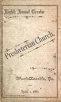Thumbnail image of Charlottesville Presbyterian Church 1886 Circular cover