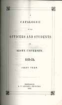 Thumbnail image of Brown University 1851-2 Catalogue cover