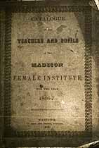Thumbnail image of Madison Female Institute 1846-7 Catalogue cover