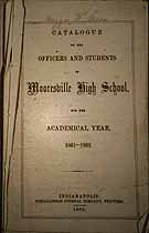 Thumbnail image of Mooresville High School 1861-62 Catalogue cover