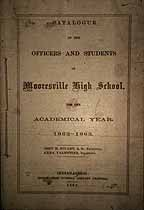 Thumbnail image of Mooresville High School 1862-63 Catalogue cover