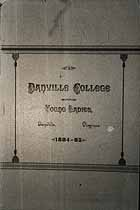 Thumbnail image of Danville College for Young Ladies 1884-85 Catalogue cover