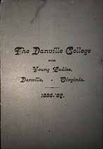 Thumbnail image of Danville College for Young Ladies 1886-87 Catalogue cover