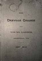 Thumbnail image of Danville College for Young Ladies 1891-92 Catalogue cover