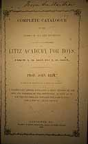 Thumbnail image of Litiz Academy for Boys 1815-1865 Catalogue cover