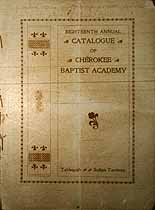 Thumbnail image of Cherokee Baptist Academy 1903 Catalogue cover