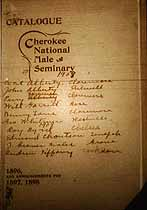 Thumbnail image of Cherokee National Male Seminary 1896 Catalogue cover