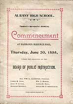 Thumbnail image of Albany High School 1895 Commencement cover