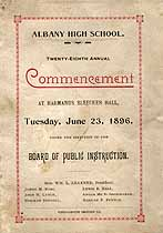 Thumbnail image of Albany High School 1896 Commencement cover
