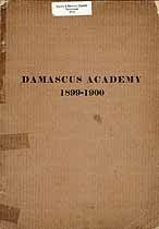 Thumbnail image of Damascus Academy 1899-1900 Catalogue cover