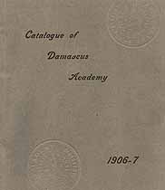 Thumbnail image of Damascus Academy 1906-1907 Catalogue cover