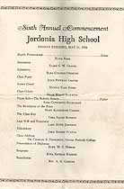 Thumbnail image of Jordonia High School 1928 Commencement cover