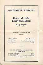 Thumbnail image of Ottilia M. Beha Junior High School 1928 Graduation cover
