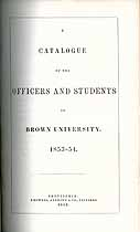 Thumbnail image of Brown University 1853-4 Catalogue cover