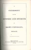 Thumbnail image of Brown University 1854-5 Catalogue cover