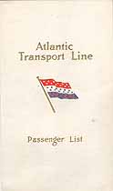 Thumbnail image of SS Minnewaska 1911 Souvenir Passenger List (NY to London) cover