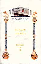 Thumbnail image of RMS Carinthia 1925 Souvenir Passenger List (Liverpool to NY) cover
