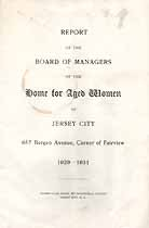 Thumbnail image of Jersey City Home for Aged Women 1929-1931 Report cover