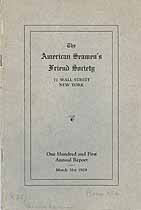 Thumbnail image of American Seamen's Friend Society 1929 Report cover