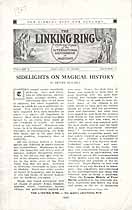 Thumbnail image of The Linking Ring, Vol. V, No. V, January Number cover
