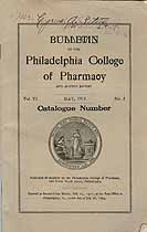 Thumbnail image of Philadelphia College of Pharmacy 1913 Catalogue cover