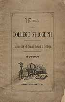 Thumbnail image of University of Saint Joseph's College 1899-1900 Catalogue cover