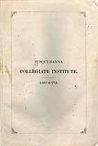 Thumbnail image of Susquehanna Collegiate Institute 1874-75 Catalogue cover