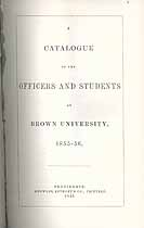 Thumbnail image of Brown University 1855-6 Catalogue cover