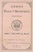 Thumbnail image of Lawrence Police Department 1883 Roster cover