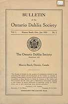 Thumbnail image of Ontario Dahlia Society 1929 Officers cover