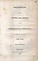 Thumbnail image of Princeton Theological Seminary 1834 Catalogue cover