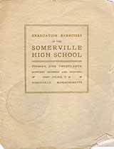 Thumbnail image of Somerville High School 1918 Graduation cover
