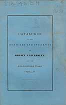Thumbnail image of Brown University 1837-8 Catalogue cover