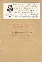 Thumbnail image of Haverford School 1910 Commencement cover