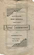Thumbnail image of Cleveland High Schools 1893 Commencement cover