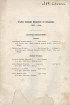 Thumbnail image of Tufts College 1902-03 Register of Students cover