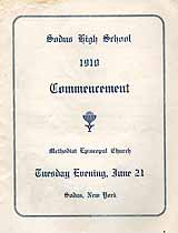 Thumbnail image of Sodus High School 1910 Commencement cover