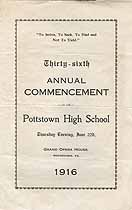 Thumbnail image of Pottstown High School 1916 Commencement cover