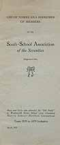 Thumbnail image of South-School Association of the Seventies 1921 Members cover