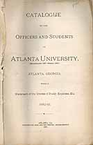 Thumbnail image of Atlanta University 1882-83 Catalogue cover
