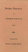 Thumbnail image of Windsor Borough 1932 Pocket Directory cover