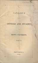 Thumbnail image of Brown University 1843-4 Catalogue cover