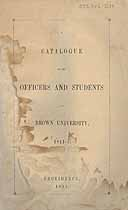 Thumbnail image of Brown University 1844-5 Catalogue cover
