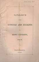 Thumbnail image of Brown University 1845-6 Catalogue cover