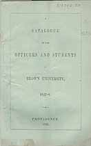 Thumbnail image of Brown University 1847-8 Catalogue cover