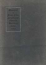 Thumbnail image of Meriden First Congregational Church 1916 Manual cover
