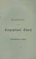 Thumbnail image of Thompson Congregational Church 1901 Manual cover