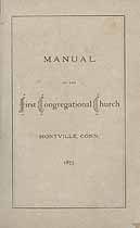 Thumbnail image of Montville First Congregational Church 1875 Manual cover