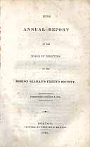Thumbnail image of Boston Seaman's Friend Society 1833 Report cover